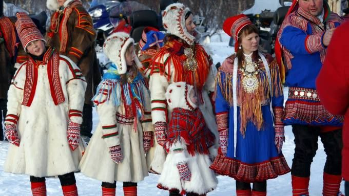 The Sami people, also spelled Sámi or Saami, are the indigenous people inhabiting the Arctic area of Sápmi, which today encompasses parts of far northern Sweden, Norway, Finland, the Kola Peninsula of Russia, and the border area between south and middle Sweden and Norway.