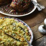 Orange and Toasted Almond Saffron Rice Pilaf with Golden Raisins Recipe {Gluten-Free}