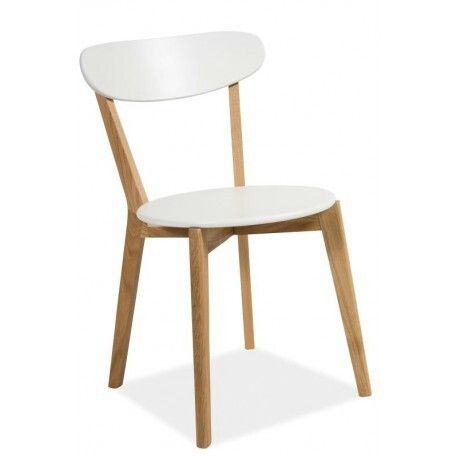 chair modern midcentury krzeslo signal wood white