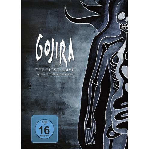"""DVD dei #Gojira intitolato """"The Flesh Live"""" contiene i concerti completi di Bordeaux e Garorock Festival e materiale registrato durante il Les Vielles Charrues Show, un documentario e un CD audio."""