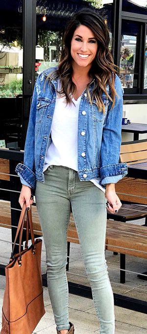 Denim Jacket Outfit Ideas 2018 For Ladies To Wear In Winter Denim