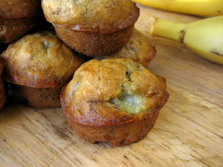 Favorite EASY 2 banana muffin recipe--makes 24 mini muffins. I subbed whole wheat flour and added some ground flax seed, cinnamon and mini choco chips. Very few ingredients and easy to prep! Banana Muffin Recipe