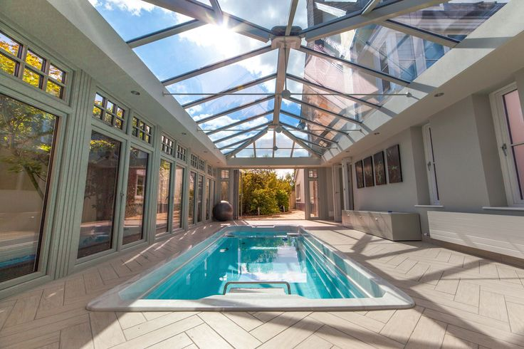 Photo 5 of 5 featuring the Endless Pool swim spa in a beautiful glass conservatory.  Build your own swim spa with our online configurator and explore the possibilities for your space: http://www.endlesspools.com/swim-spa-prices.php