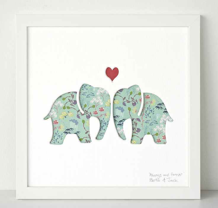 Original Ellys Personalised Wedding Gift Art from notonthehighstreet.com