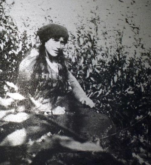 A rare photograph of Anastasia Romanov