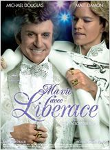 Behind the Candelabra (US, 2013 / French title: Ma vie avec Liberace)  A sad story of the flamboyant pianist Liberace's affair with a 16-year-old boy shows the neurotic obsessive neediness which both attracted them and drove them apart. Michael Douglas is excellent as Liberace but at age 40, Matt Damon is miscast as the young lover. Fascinating but disturbing. 3 stars.
