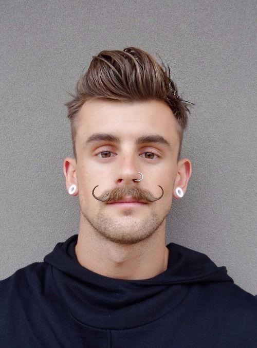 Outstanding 1000 Ideas About Handlebar Mustache On Pinterest Mustache Short Hairstyles Gunalazisus