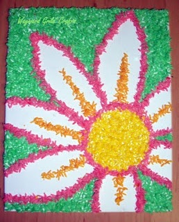 dyed rice artwork