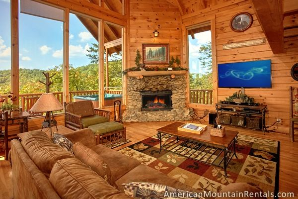 Perfect Peace #46 is a 2 bedroom, 3 bathroom cabin in Brothers Cove that sleeps 10 offered by American Mountain Rentals in the Smoky Mountains