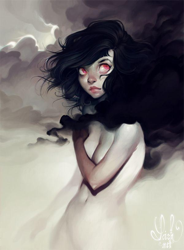 """Lois van Baarle (Loish), """"Dark Clouds"""".  Awesome."""