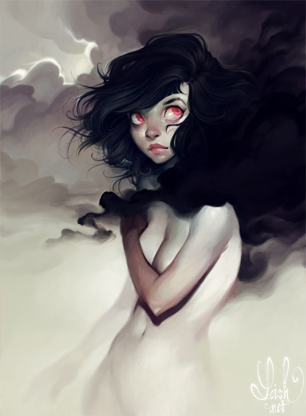 "Lois van Baarle (Loish), ""Dark Clouds"".  Awesome."