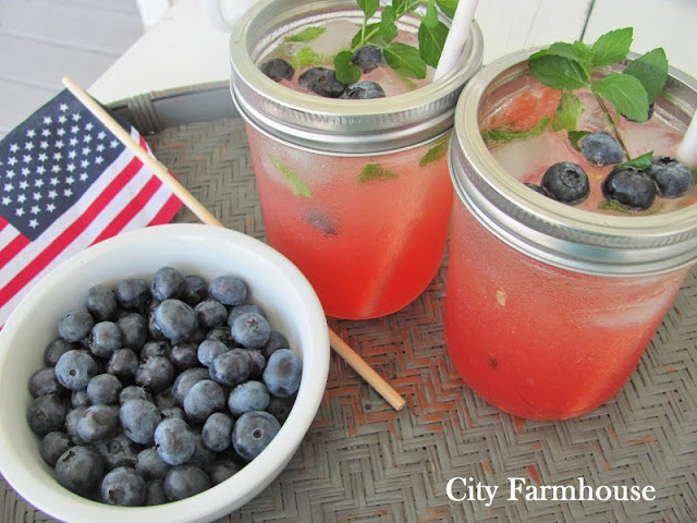 for Mint Berry Spritzers for adults and Watermelon Mint Spritzers ...