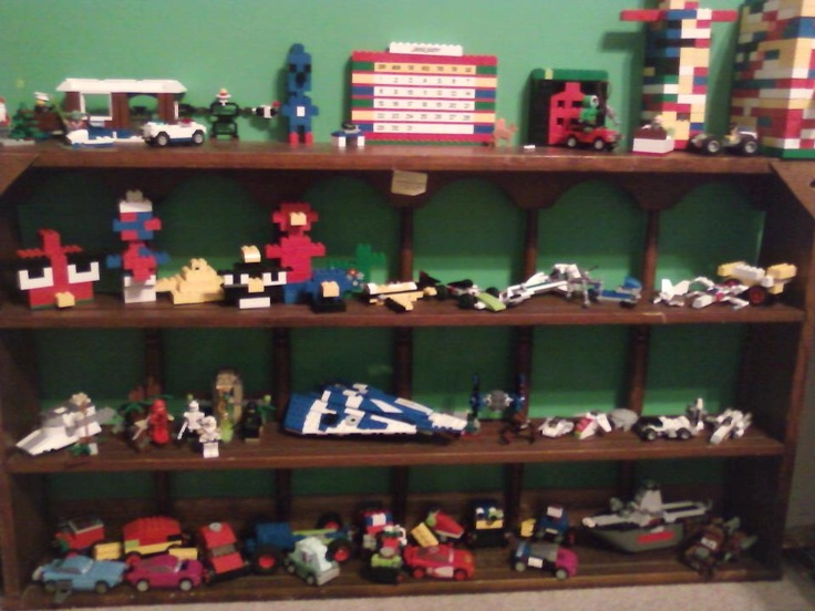 Lego display shelf boys room pinterest shelves lego for Display bedroom ideas