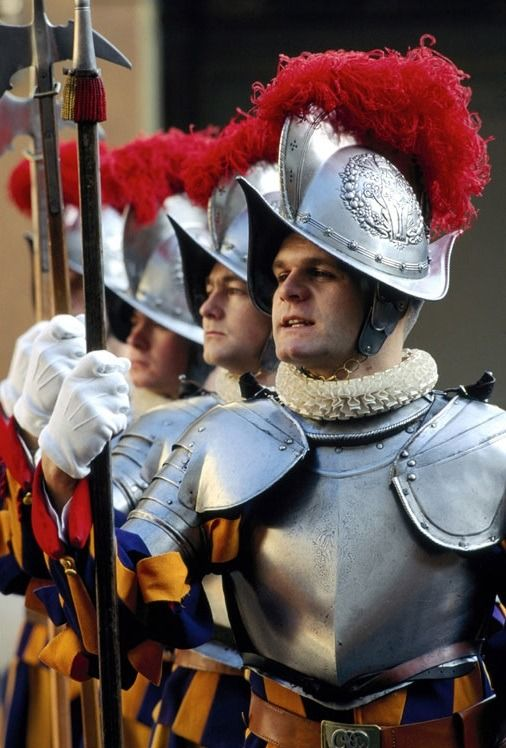 Swiss Guard--On May 4,1998, the guard experienced one of its greatest scandals in more than 100 years when the commander,Alois Estermann and his wife ,were murdered in unclear circumstances in Vatican City.They were killed by the young guardsman Tornay, who later committed suicide.