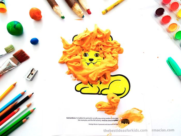 Lion Craft with Puffy Paint