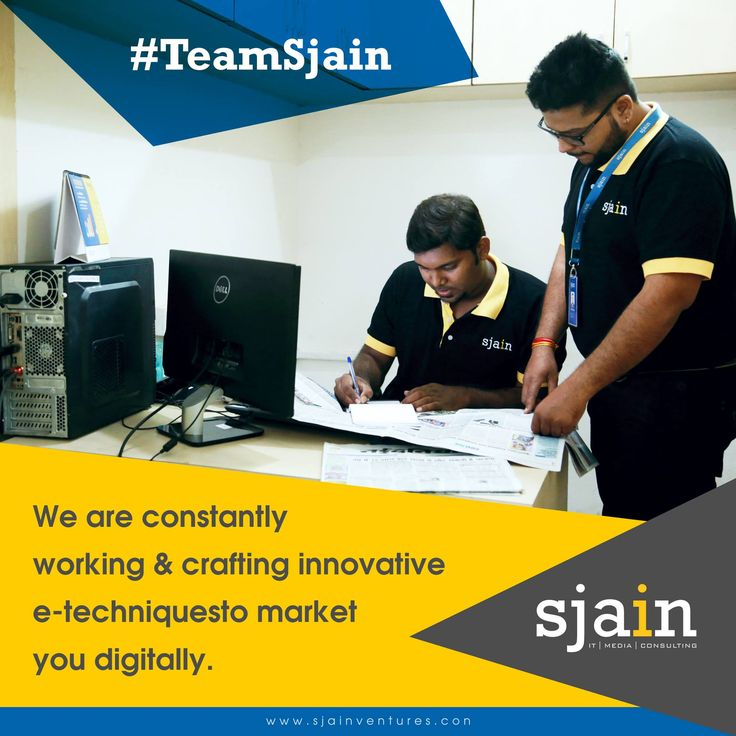We are constantly working and crafting innovative e-techniques to market you digitally.  #SjainVentures #DMSInfosystem #TeamSjain