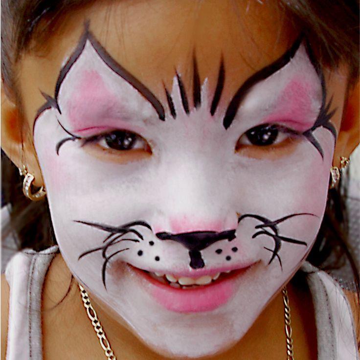 Рисуем на лице кошку в картинках