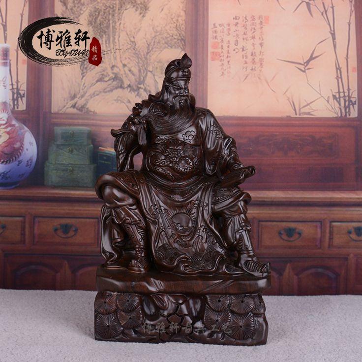 Эбони деревянную статую орнамента статуя Гуань Гун ночь весной повезло считывания Гуань Gongwu Fortuna ремесла Подарки
