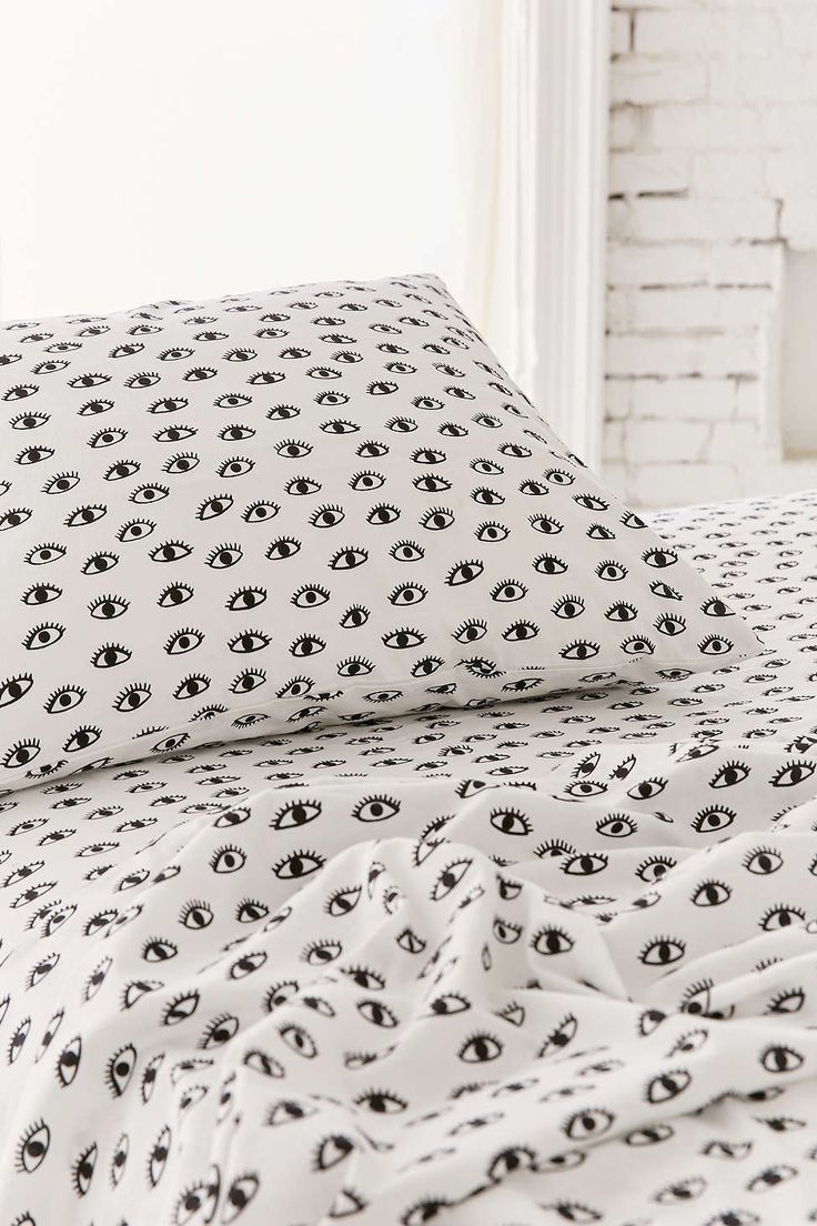 Allover Eyes Sheets ($39/ea for flat, fitted, or pillowcase set)