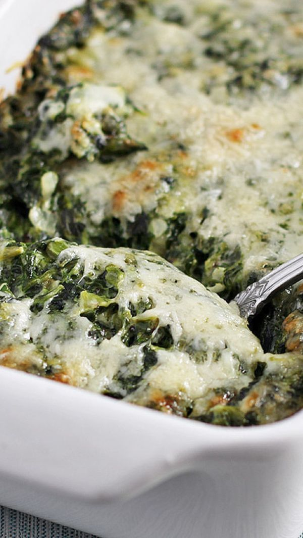 Ina's creamed spinach gratin