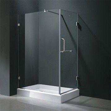 "Vigo Industries Frameless Rectangular Shower Enclosure - 36"" x 48"""