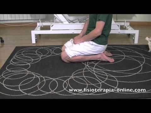 Estiramiento de la musculatura anterior del pie y tobillo.