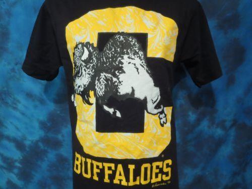 DEADSTOCK-vintage-90s-UNIVERSITY-OF-COLORADO-BUFFALOES-T-Shirt-LARGE-boulder-NOS