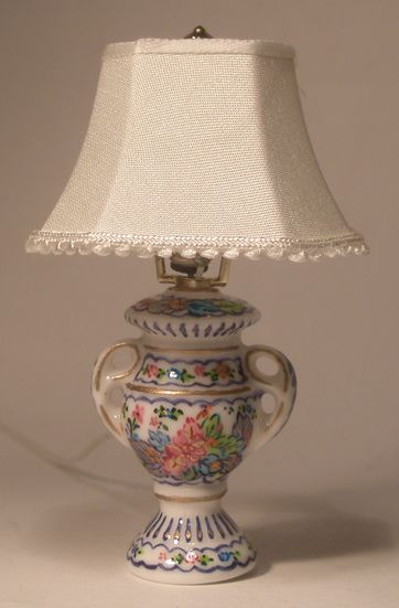 lighting for dollhouses. tobacco leaf table lamp by christopher whitford 9900 swan house miniatures artisan tablehouse lightingdollhouse lighting for dollhouses