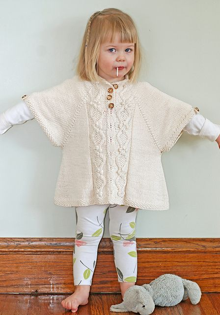 Ravelry: The Little Tourist Poncho pattern by Jenni Lansing. 3 months to 10 years