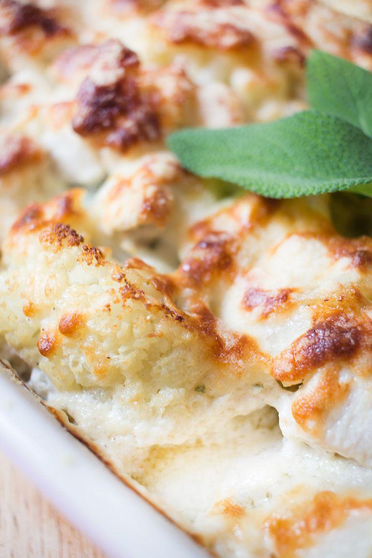 Low Carb Blumenkohl-Mascarpone Gratin mit Hähnchenfleisch – Low Carb Köstlichkeiten