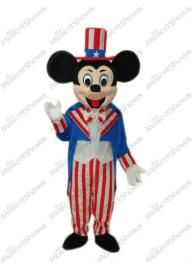 Américain Mickey Mouse Mascotte Adulte Costume dég...
