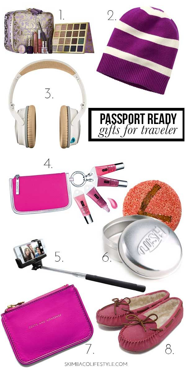 Gift ideas for traveling woman. She of course wants a trip, but here ...