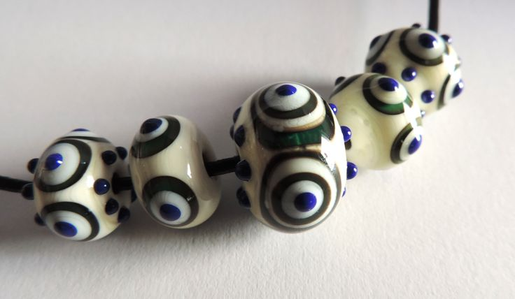 Handmade glass necklace, inspired by ancient models