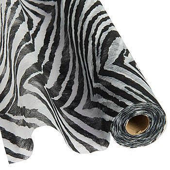 Zebra gossamer fabric is a great decorating fabric that can be used for backdrops and ceilings.  Buy zebra patterned gossamer rolls at Stumps Party today! Stumpsparty.com