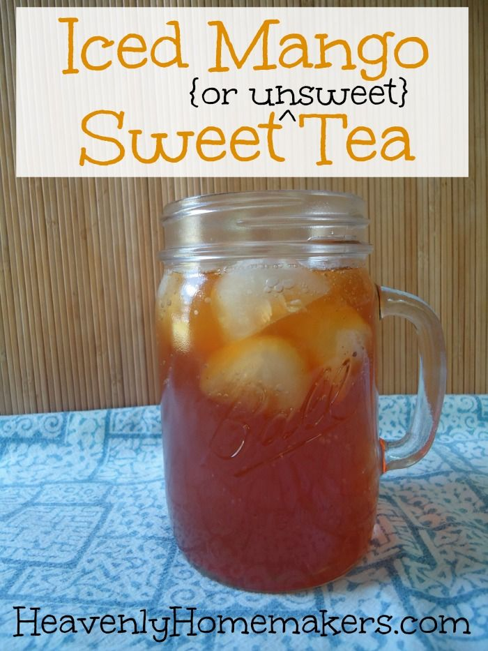 Learn how easy it is to make Mango Tea at home with real food ingredients - sweet or unsweet!
