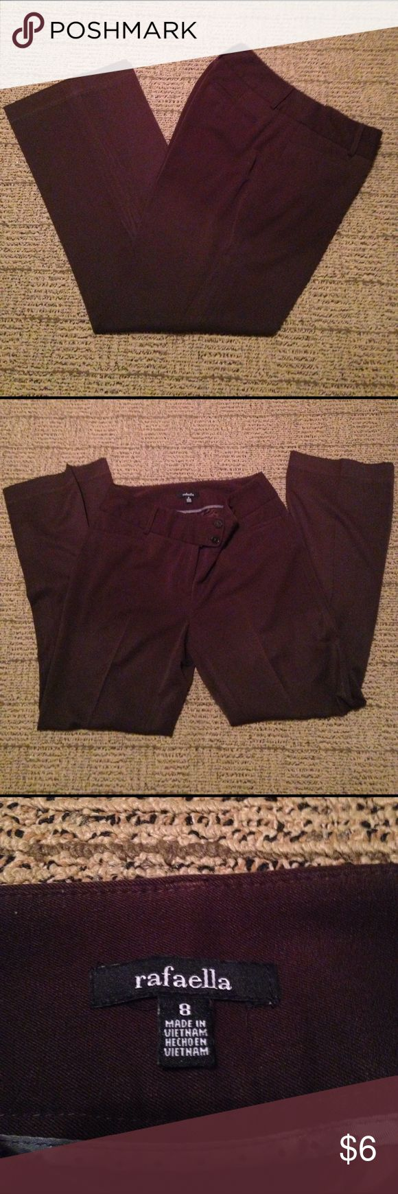 Curvy fit dress pants. EUC. Rafaella Curvy fit dress pants. Size 8. Chocolate brown Rafaella Pants Trousers
