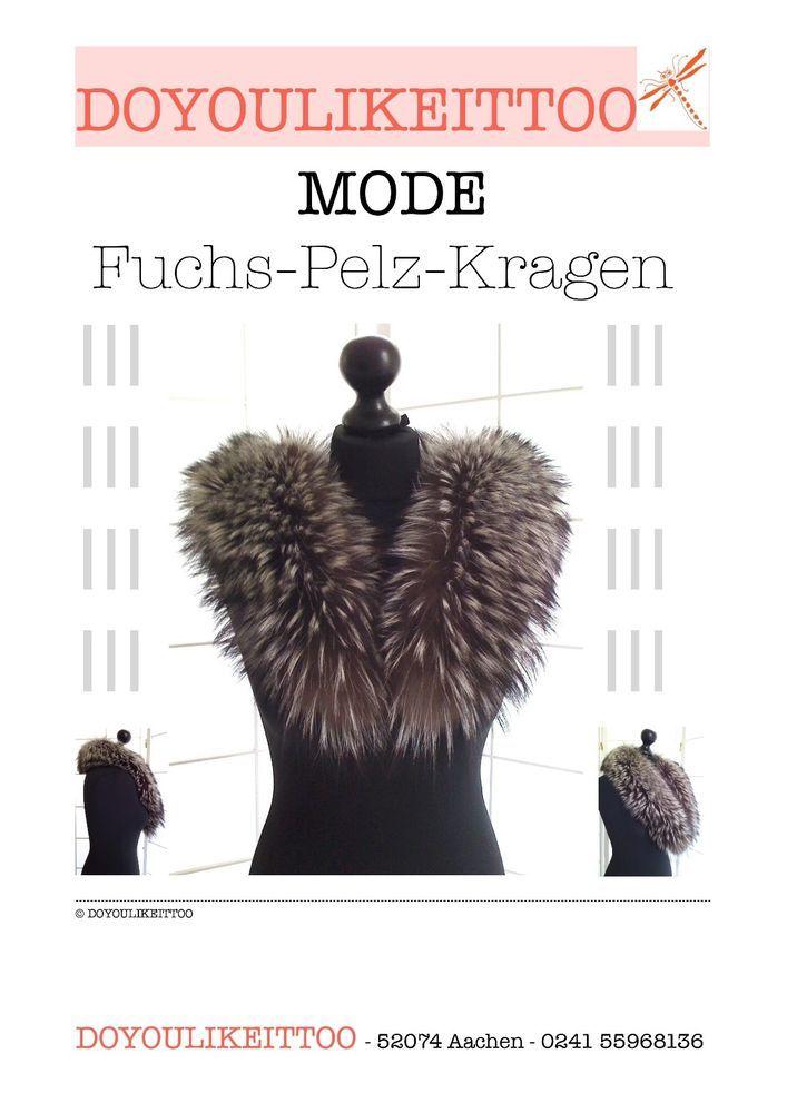 FUCHS-PELZ-KRAGEN, Brauntöne, Echtpelz, in Kleidung & Accessoires, Damen-Accessoires, Schals & Tücher | eBay