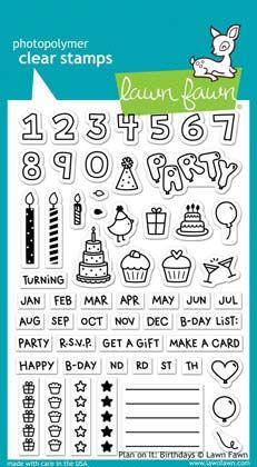 ВПЕЧАТЛЕНИЯ АВТОРА - Штамповка - NEW «- ВСЕ ШТАМПЫ - LF1340 Четкая Марка - План на него: дни рождения