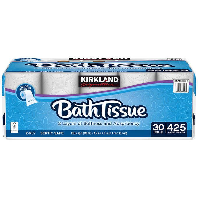 Kirkland Signature Bath Tissue 2 Ply 425 Sheets 30 Rolls 2