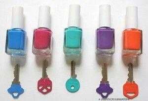 zo worden je sleutels vrolijker, en kan je (misschien) onhouden welke sleutel in welk sleutelgat moet !