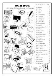english worksheet school objects classroom objects coisas para comprar pinterest. Black Bedroom Furniture Sets. Home Design Ideas