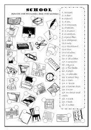 english worksheet school objects classroom objects coisas para comprar pinterest. Black Bedroom Furniture Sets. Home Design Ideas