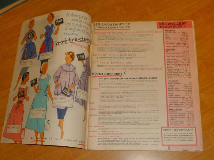 ancien catalogue la redoute 1958 59 ebay fashion. Black Bedroom Furniture Sets. Home Design Ideas