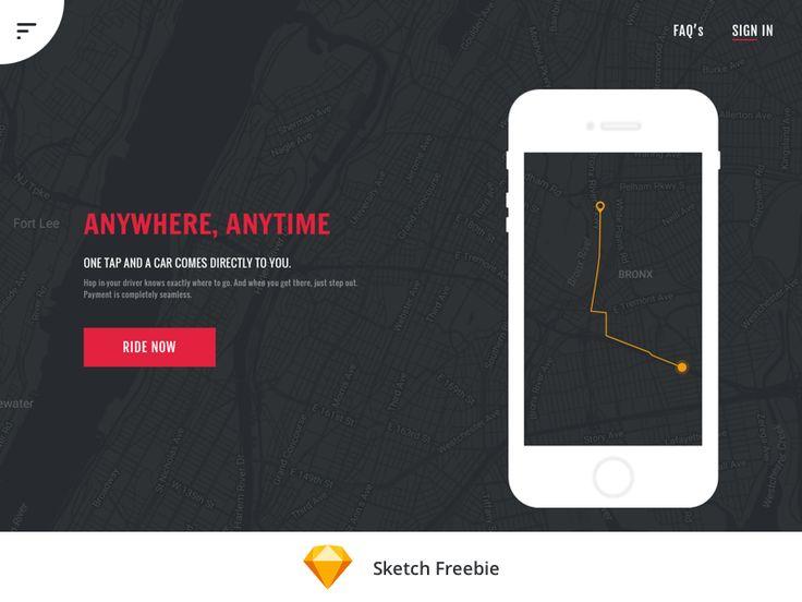 Cab App Freebie by Santhosh Rajendran