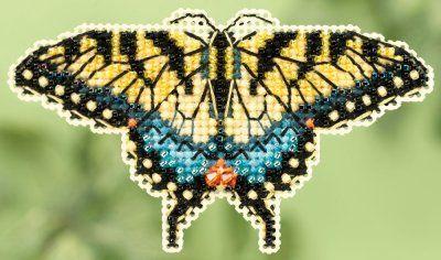 Yellow Swallowtail (2015); Mill Hill; Seasonal Ornament; Spring Bouquet
