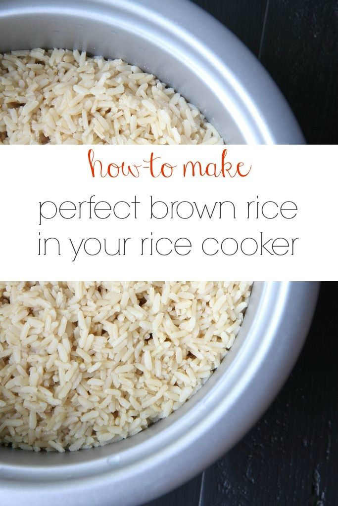 Best 25 long grain brown rice ideas on pinterest long grain how to make perfect brown rice in your rice cooker from momadvice ccuart Images
