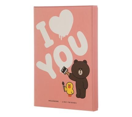 TRUE LOVE, LINE FRIENDS Edición limitada, Tapa dura, Large, Cuaderno blanco - Moleskine ®