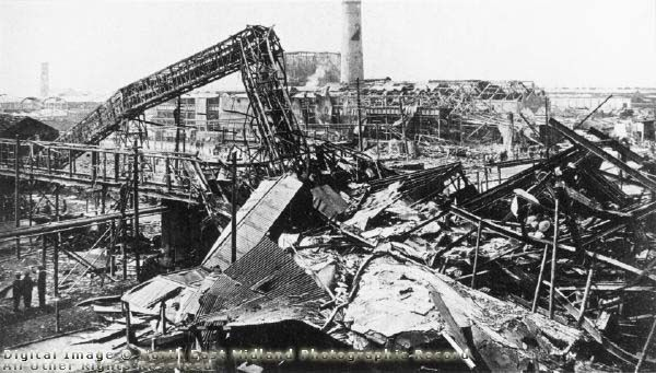 Site after Explosion at Chilwell Depot, Chetwynd Road, Chilwell, 1918, hard to believe this is just round the corner of my road