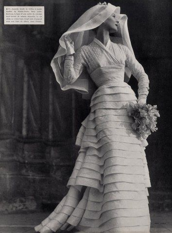 1953 Jean Desses wedding gown