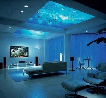 Underwater bedroom dream house pinterest underwater bedrooms and underwater bedroom - Decorative fish tanks for living rooms ...